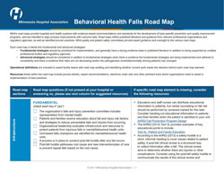 behavioral health falls road map