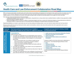 health care and law enforcement road map
