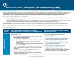 medication reconciliation road map