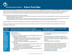 sepsis road map