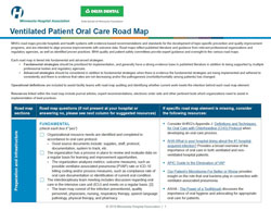 Ventilated patient oral care road map